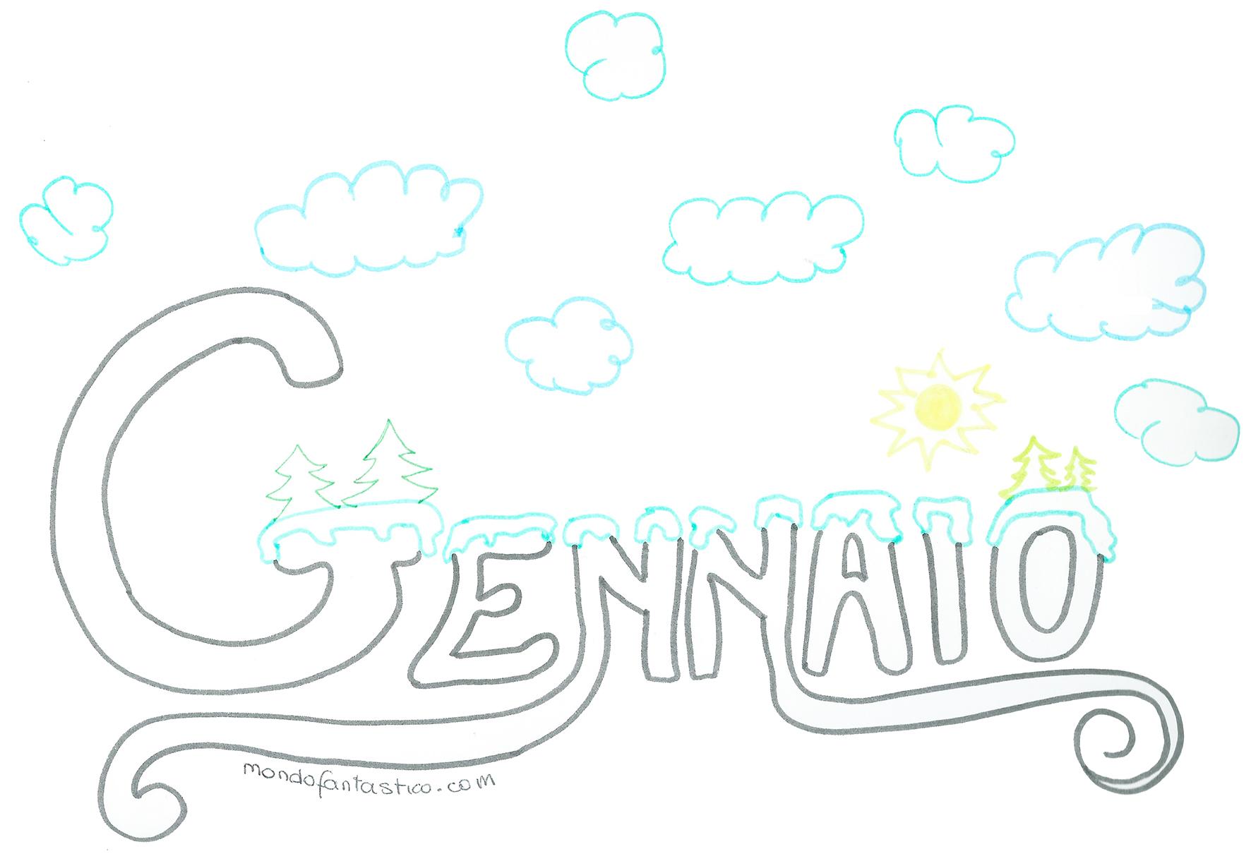 Gennaio 2020 Per Bambini Colora Mese Gennaio Mondofantastico Com