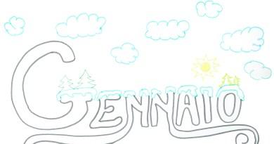 Gennaio 2020 per bambini, colora mese gennaio