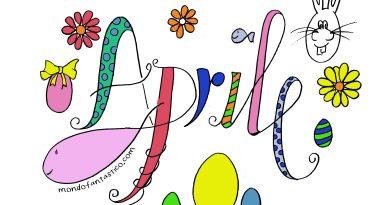 Aprile 2020 per bambini, colora mese aprile