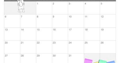 Calendario mese luglio per bambini