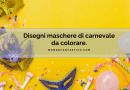 Disegni maschere di carnevale da colorare