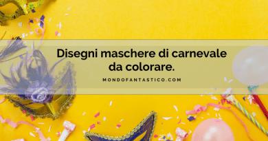 Disegni maschere di carnevale da colorare maschere di animali da colorare