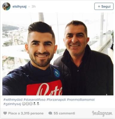 Hysaj e il padre