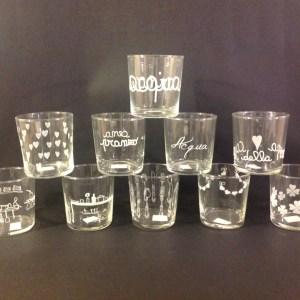 """Simple Day Bicchiere """"Pranzo e Cena"""""""