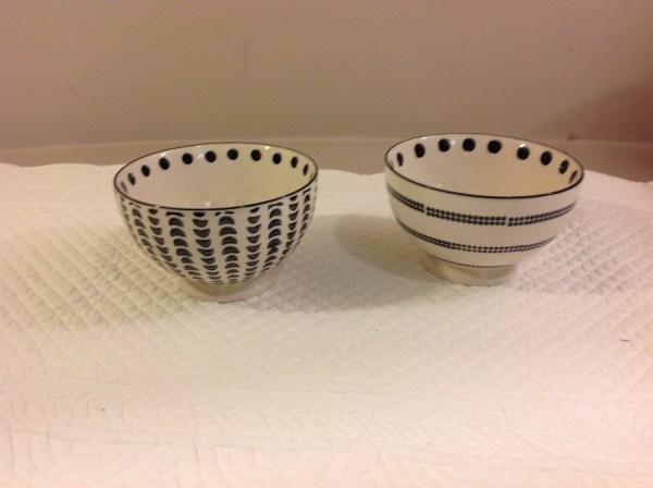 Ciotola in ceramica panna nera rigataAmadeus