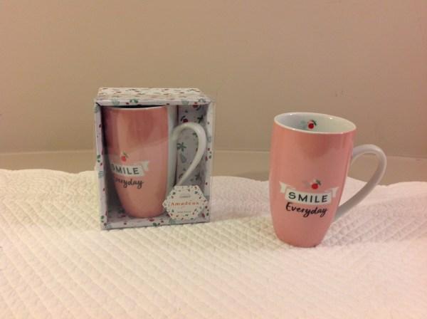 mug rosa smile