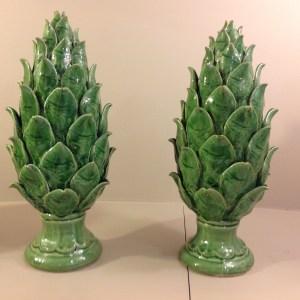 pigna verde in ceramica