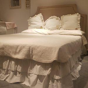 Blanc Mariclò Vestiletto bianco matrimoniale in sangallo con 2 balze Blanc