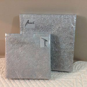 tovaglioli carta argento fantasia damascata