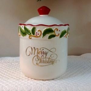 barattolo merry christmas in ceramica