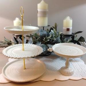 Preziosa Luxury Alzatina panna in ceramica lavorata Preziosa Luxury