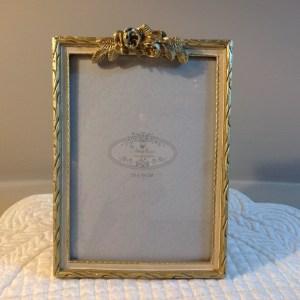 Angelica Home & Country Porta foto panna oro con roselline Angelica Home