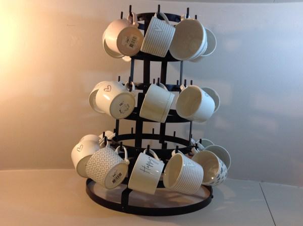 Bastion Collection Piatto per tazza in ceramica con cuoricino grigio