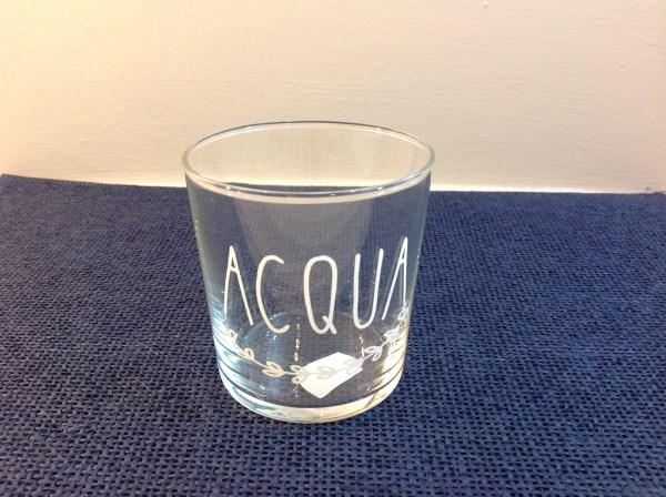 Simple Day Bicchiere in vetro tumbler Acqua con ghirlanda