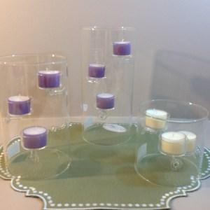 EDG (Enzo De Gasperi) Porta candela cilindrico per 3 tea light
