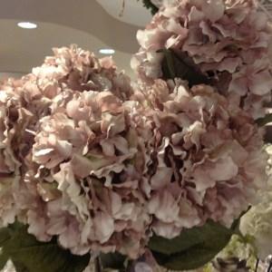 mazzo ortensie rosa beige