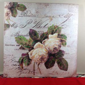 Angelica Home & Country Quadro con fiori e scritte 60x60-Angelica