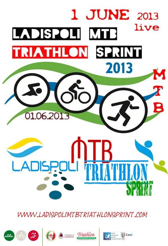La locandina del 1° Triathlon Sprint MTB Ladispoli