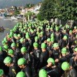 Il via del Triathlon Internazionale di Mergozzo