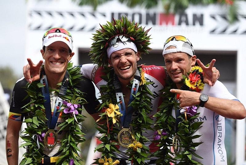 Jan Frodeno è campione del mondo all'Ironman Hawaii 2016 davanti ai connazionali Sebastian Kienle e Patrick Lange (Foto: Ironman.com)