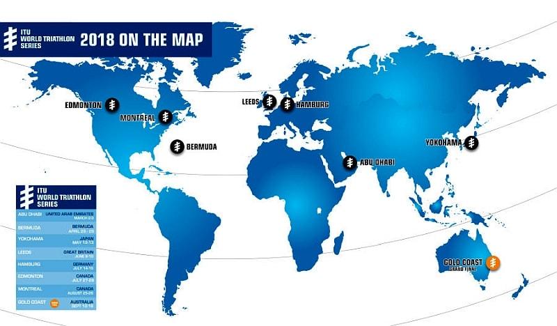 Le date 2018 di ITU World Triathlon Series, World Cup e Paratriathlon!