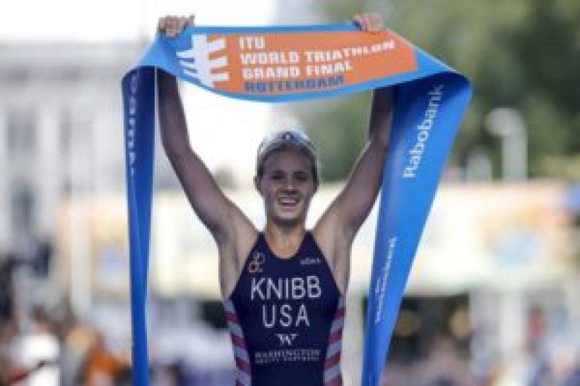 Taylor Knibb si aggiudica il Campionato del Mondo di triathlon 2017 a Rotterdam nella categoria Junior (Foto ©ITU Media / Wagner Araujo