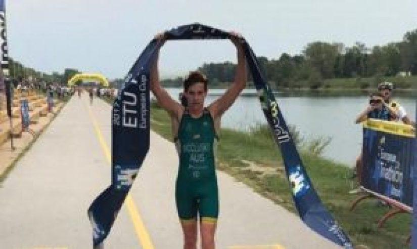 L'australiano Callum McClusky è il più veloce alla Zagreb ETU Triathlon Junior European Cup 2017