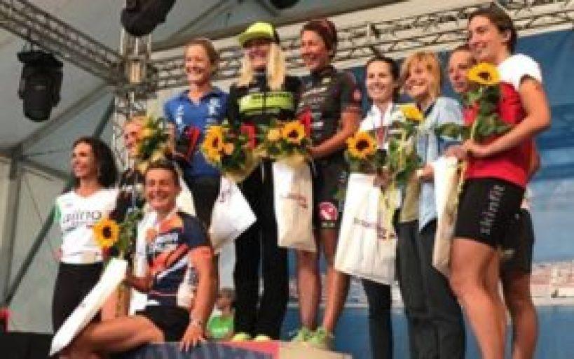 Le top 10 del Let's Go Triathlon Grado 2017, capitanate delle prime tre classificate: Gaia Peron, Michela Tessaro e Martina Dogana