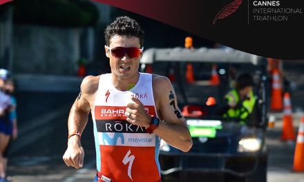 Javier Gomez al via del Cannes International Triathlon 2018