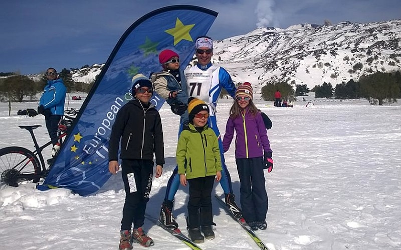 Dominio russo sull'Etna negli Europei di Winter Triathlon