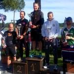 Il podio assoluto maschile dell'Irondelta Medio di Primavera 2018 vinto da Massimo Cigana