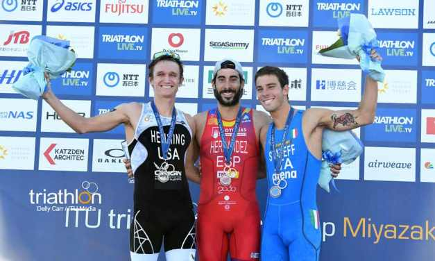 I video della finale dell'ITU Triathlon World Cup 2018 a Miyazaki si tingono di azzurro