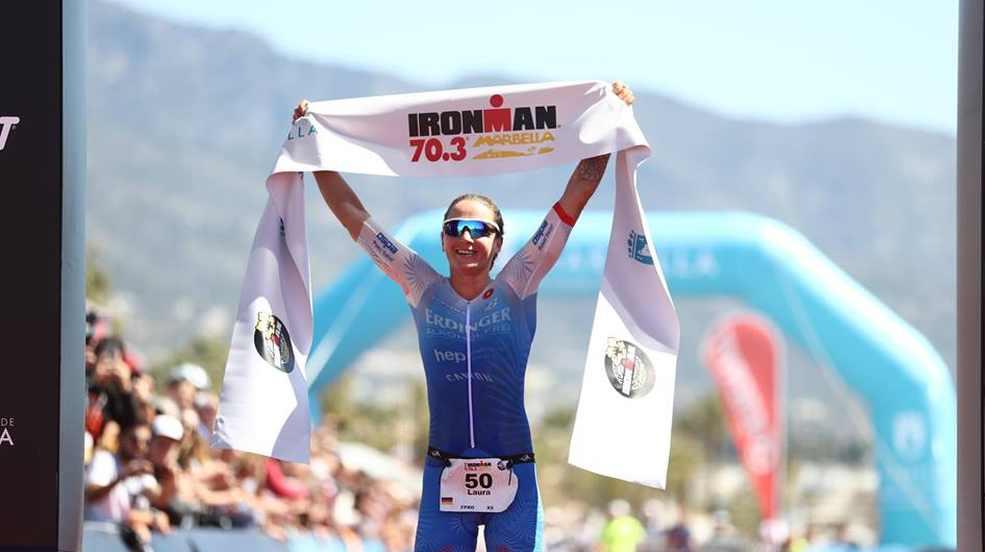 La tedesca Laura Philipp trionfa all'Ironman 70.3 Marbella.