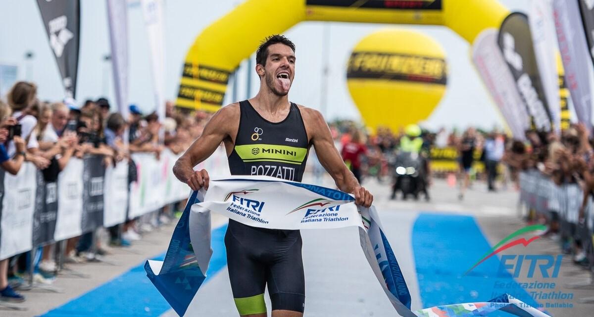 Gianluca Pozzatti è campione italiano di triathlon sprint 2019