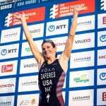 La statunitense Katie Zaferes si laurea campionessa del mondo ITU di triathlon alla Grand Final WTS a Losanna (Foto ©ITU Media).