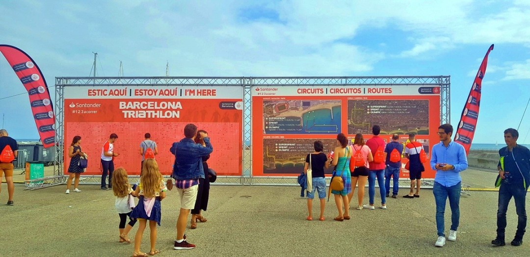 Il dettaglio dei percorsi del Barcellona Triathlon 2019