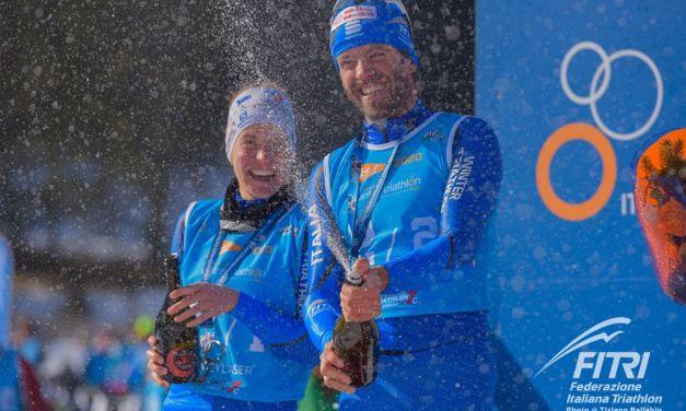 L'Italia è staffetta d'argento ai Mondiali di winter triathlon. Pesavento iridato U23. Russia invincibile