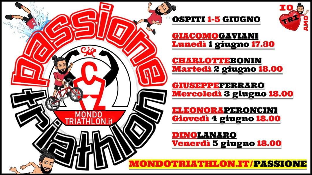 Passione Triathlon, il palinsesto dall'1 al 5 giugno 2020