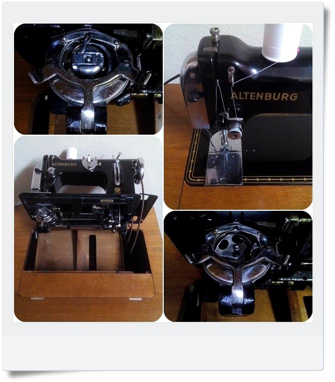 Nähmaschine Altenburg Klasse 50 - Mondspinne
