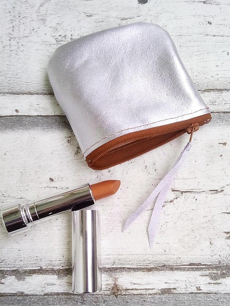 """Tasche """"Silber"""" (silber-orange) von Mondspinne"""