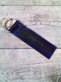"Schlüsselanhänger ""Rustikal"" (marineblau) - MONDSPINNE"
