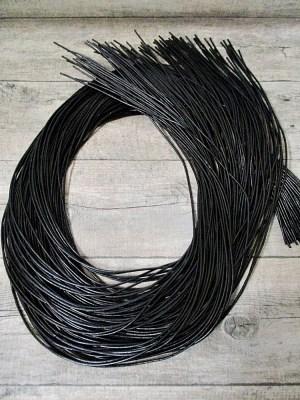 Lederband Lederriemen Rindsleder schwarz rund 1m 2mm - MONDSPINNE