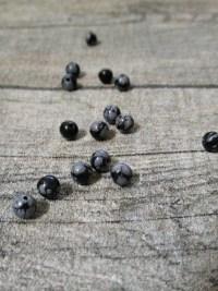 Perlen Edelstein Schneeflocken-Obsidian grau schwarz 4mm - MONDSPINNE
