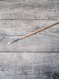 Pinsel Naturborsten Holz holzfarben Gesamtlänge 29,5 cm Pinsellänge 1 cm Pinselbreite 0,5 cm - MONDSPINNE