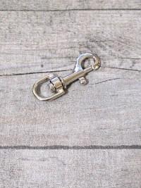 Schlüsselkarabiner Karabiner silber Druckguss Nr. 1052 52x19x8,5 - MONDSPINNE