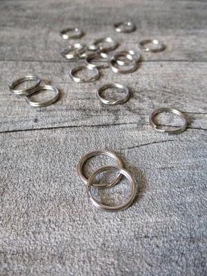 Schlüsselring Eisen 15mm silberfarben Nr. 3013 - MONDSPINNE