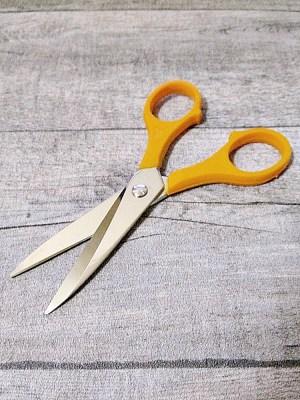 Schere 5 Zoll oranger Kunststoffgriff - MONDSPINNE