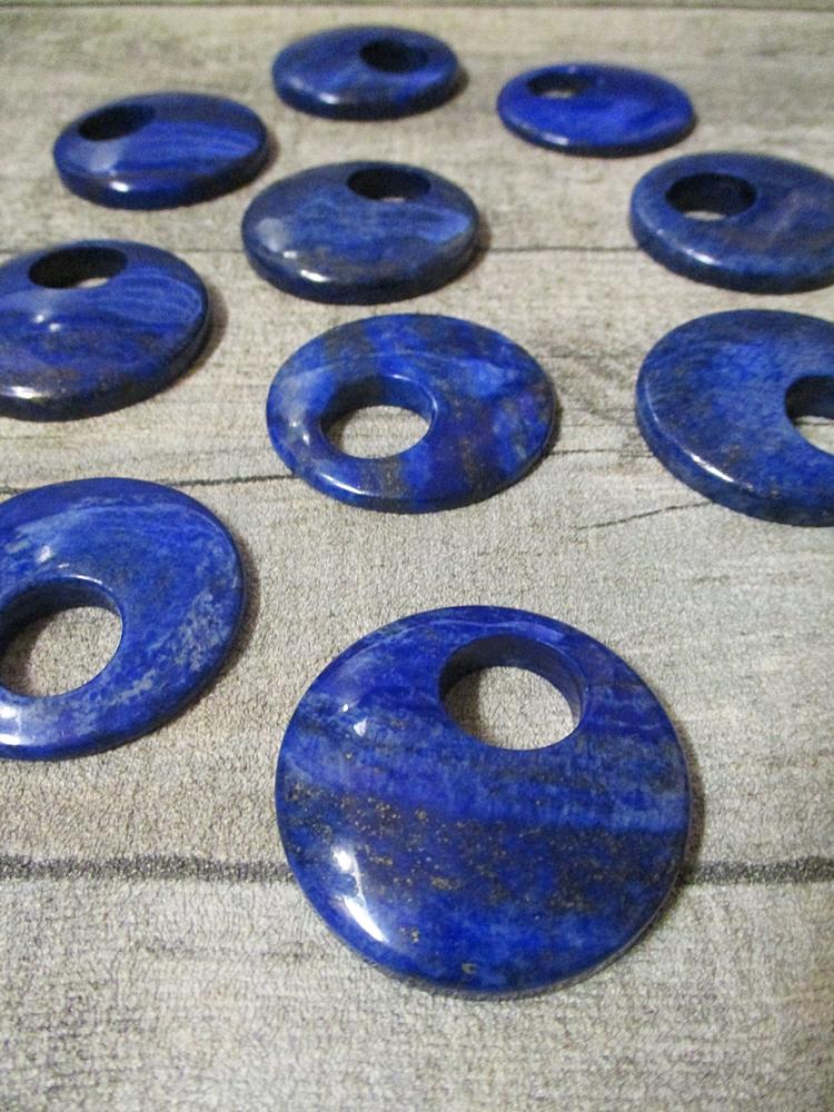 Lapislazuli Donut 40 mm blau rund - MONDSPINNE