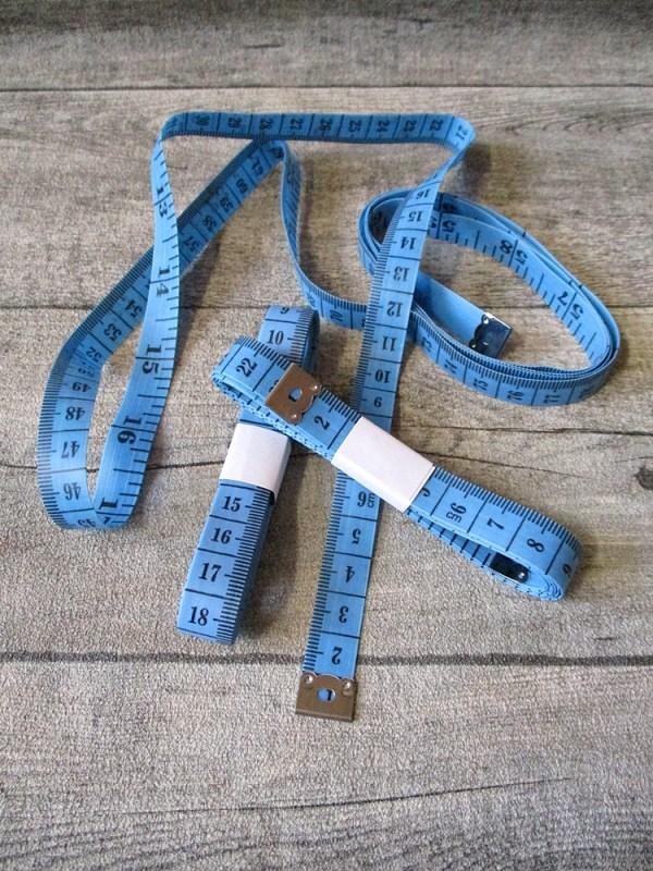 Maßband Metermaß Bandmaß Zentimeter Inch blau 150 cm Kunststoff - MONDSPINNE