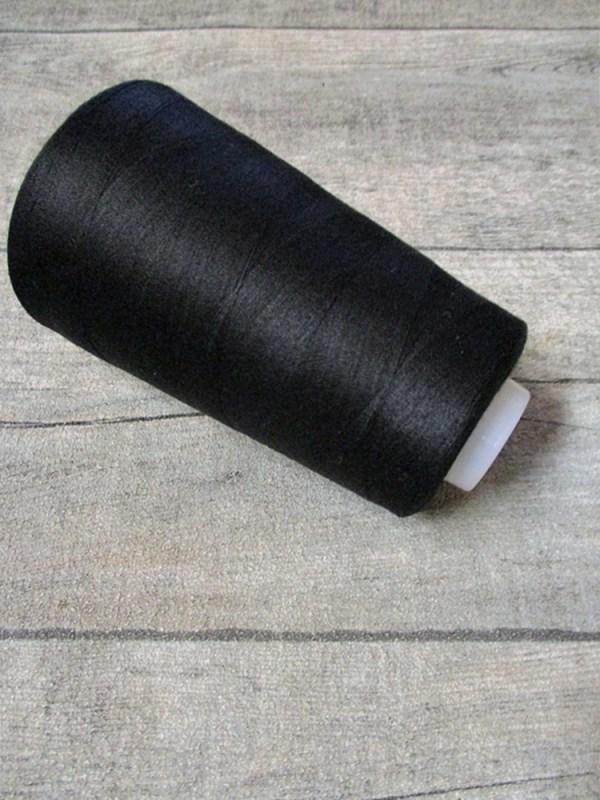Overlockgarn Nähgarn Polyester Kone Spule schwarz 3000 Yards - MONDSPINNE